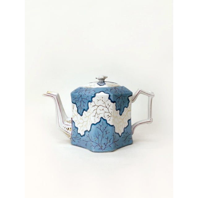 Ceramic Rs Prussia Blue & White Angle Teapot For Sale - Image 7 of 7