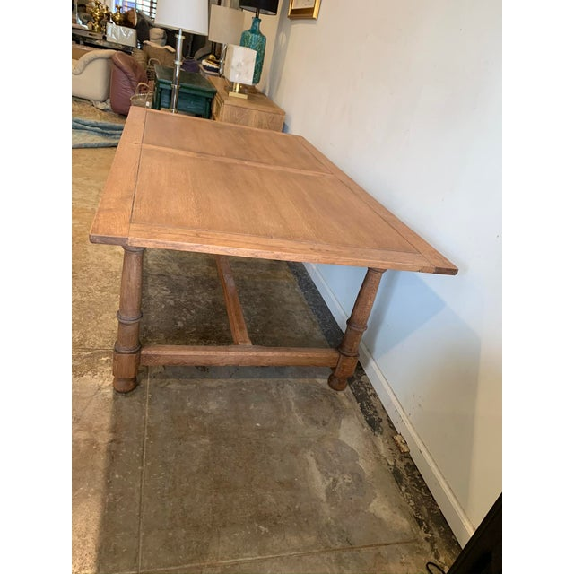 Antique French Farm Dining Table For Sale - Image 4 of 9