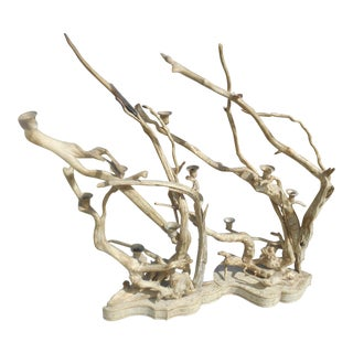 Handcrafted Driftwood & Metal Candelabras - A Pair