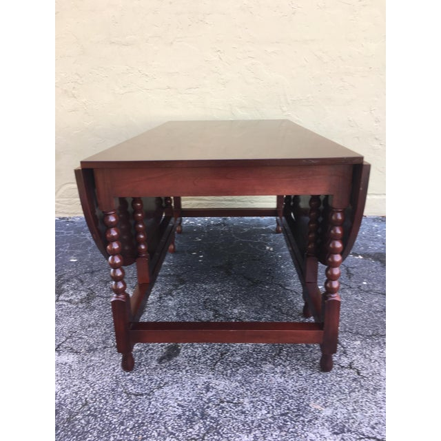 American Classical American Sheraton Cherry Acanthus Carved Drop-Leaf Table, Circa 1820 For Sale - Image 3 of 12