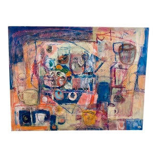 """""""Cup of Friends"""" Original Abstract Expressionist Painting by Ellen Reinkraut For Sale"""