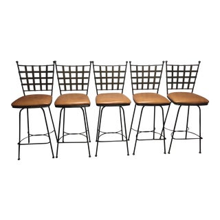 Charleston Forge Etrusche Barstools - Set of 5 For Sale