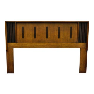 Vintage Mid Century Modern Lane Walnut Rosewood Full Queen Size Bed Headboard Danish