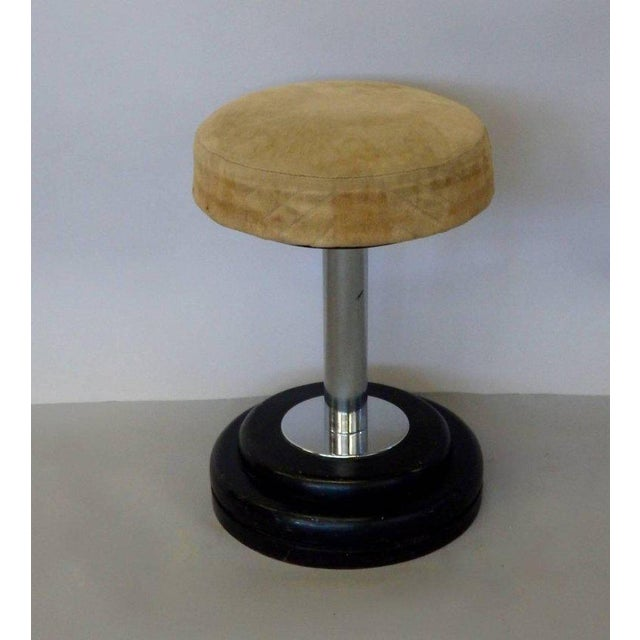 Art Deco Small Art Deco Stool in Original Fabric For Sale - Image 3 of 6