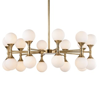 Astoria 20 Light Chandelier - Aged Brass For Sale