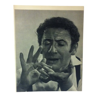 "Black & White Print on Paper, ""Marcel Marceau"" by Yousuf Karsh, 1967 For Sale"