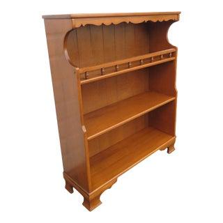 Hard Rock Maple Bookcase Bookshelf Display Cabinet For Sale