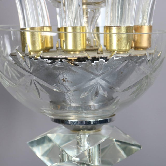Traditional Oversized European Ten-Light Crystal Chandelier, 20th Century For Sale - Image 3 of 11