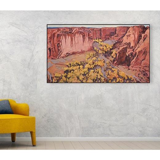 Contemporary 'Canyon De Chelly 1' Painting From the Red Rock Canyons Series by Contemporary Expressionist George Brinner For Sale - Image 3 of 5