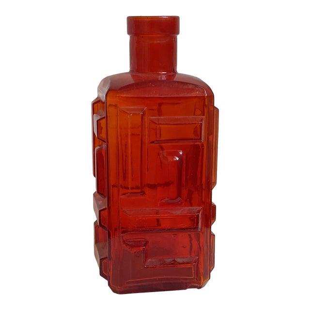 Mid-Century Italian Geometric Sculptural Vase/Decanter For Sale