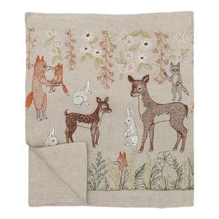 Contemporary Linen Spring Blossoms Table Runner