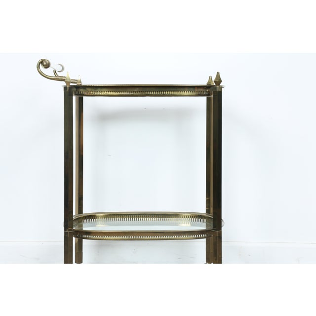 Mid-Century Gold-Tone Bar Cart - Image 3 of 11