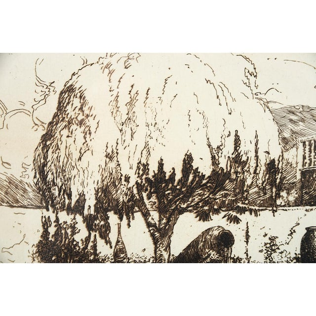 'Wishing Well' Original Etching Art - Image 3 of 7