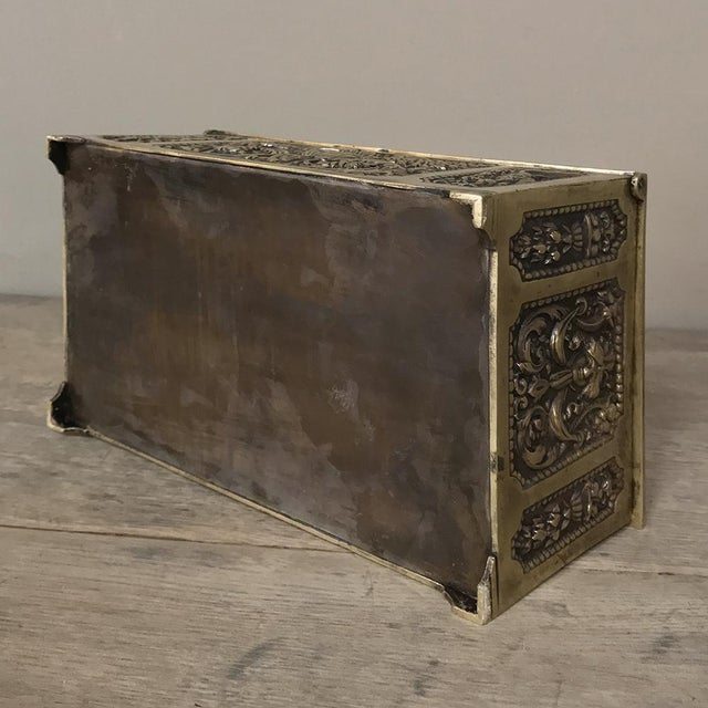 Jewelry Box, 19th Century French Renaissance, Cast in Bronze For Sale - Image 12 of 13