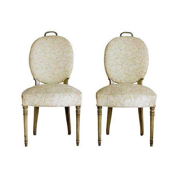 Edwardian Brass Rope Handle Chairs - A Pair - Image 1 of 7
