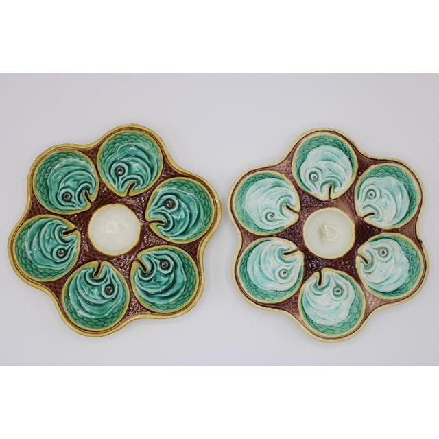 Wedgwood Antique Wedgewood Majolica Ceramic Oyster Plates For Sale - Image 4 of 12