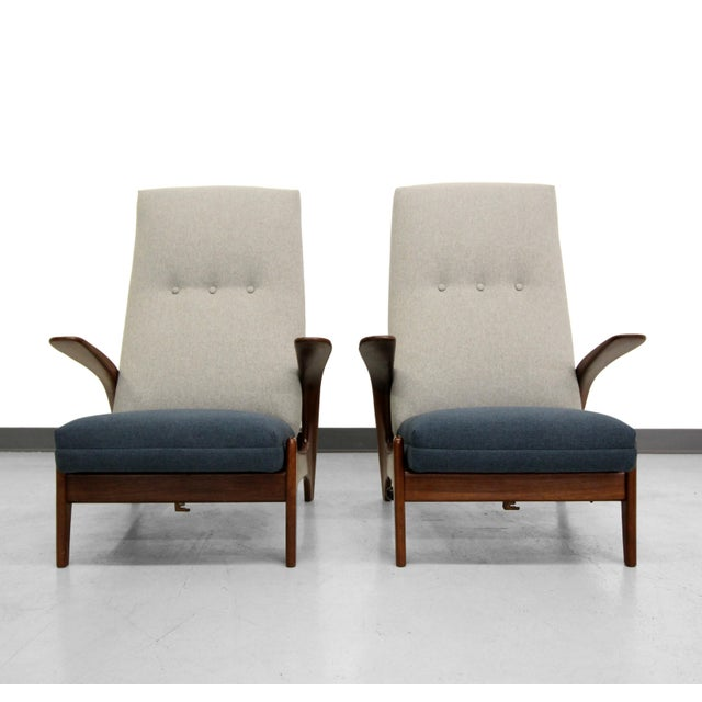 Vintage Gimson & Slater Reclining Lounge Chairs - A Pair - Image 5 of 7