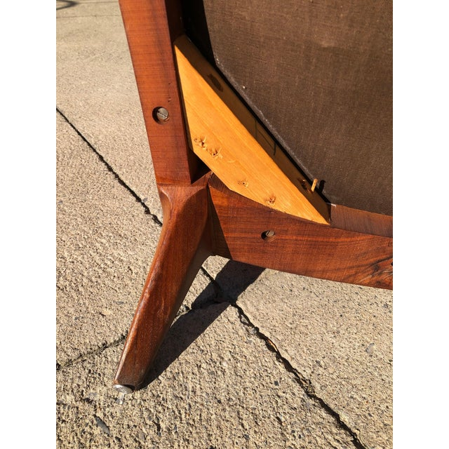 Orange Paul McCobb Lounge Chair Walnut For Sale - Image 8 of 10