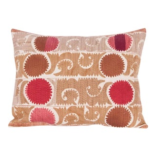 Vintage Embroidered Tribal Band Turkish Accent Pillow Cover For Sale