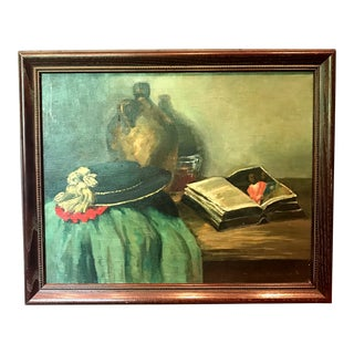 1960s Vintage Still Life Oil Painting For Sale