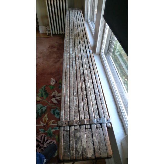 Metal Sofa Table, Console, Entryway Table From Industrial Painter's Scaffold on Steel Hairpin Legs For Sale - Image 7 of 11