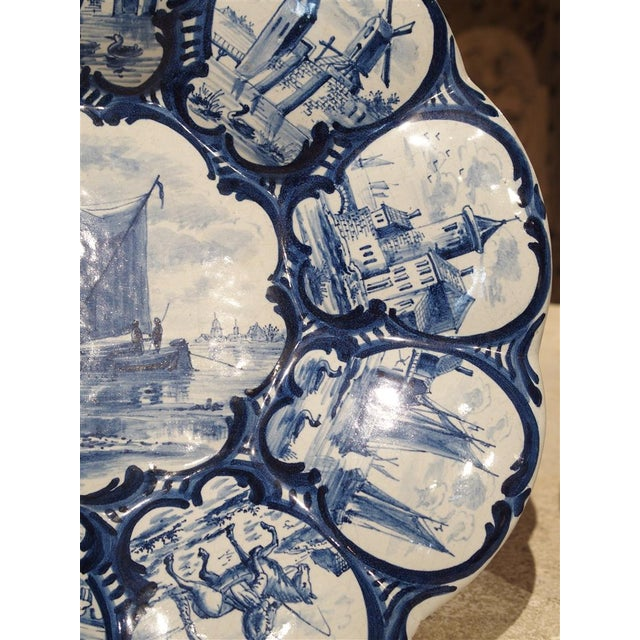 White Pair of Antique Dutch Blue and White Faience Bowls, Early 19th Century For Sale - Image 8 of 12