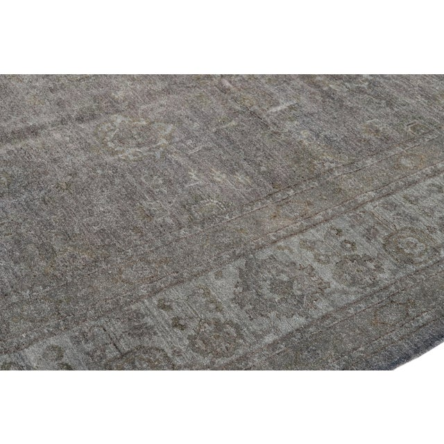 Contemporary Grey Overdyed Wool Room-Size Rug For Sale - Image 11 of 12