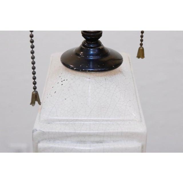 1920s Petite Antique Craquelure Lamps, a Pair For Sale - Image 5 of 8