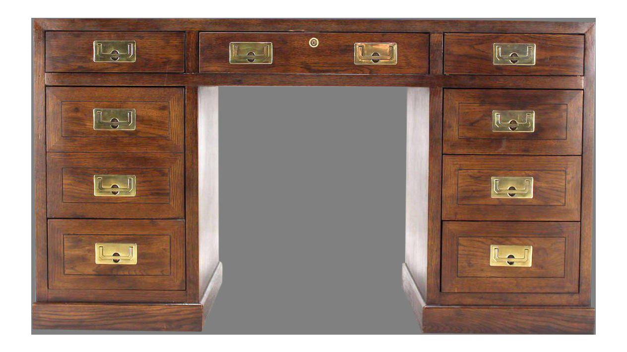 Vintage Henredon Campaign Desk