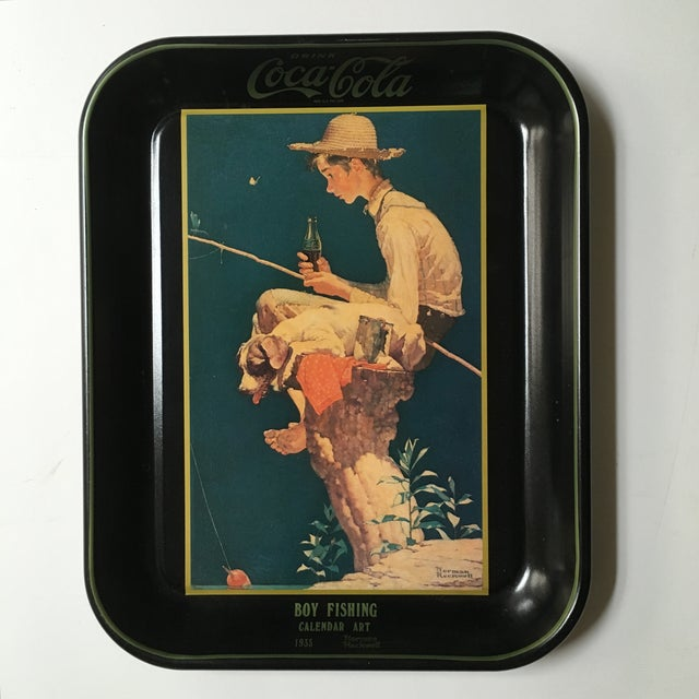 Boy Fishing, Norman Rockwell Coca-Cola Tray 1935 - Image 2 of 6