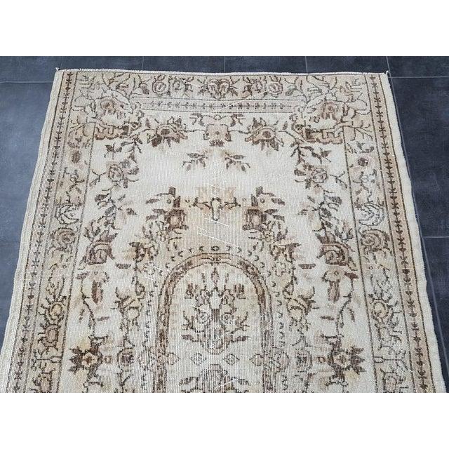 Vintage Oushak Traditional Handmade Area Rug- 3′10″ × 6′7″ For Sale - Image 4 of 11