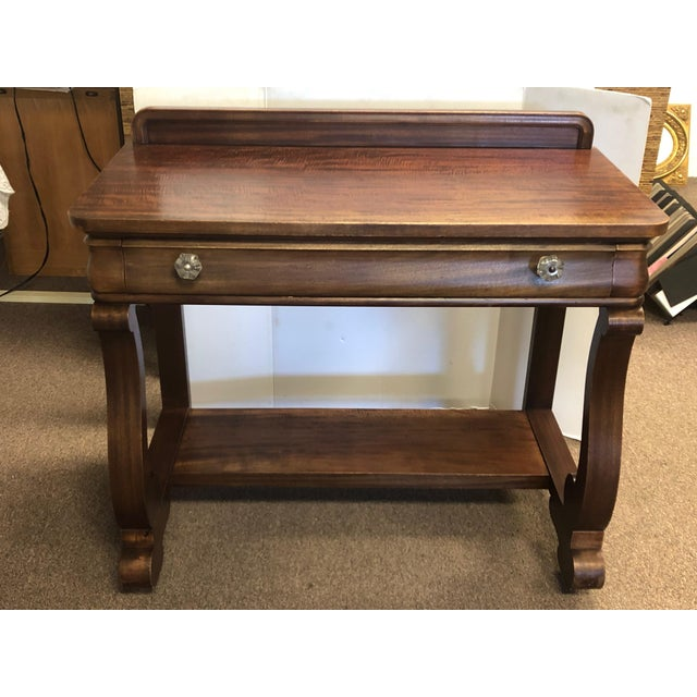 19th Century Early American Hersee Library Desk For Sale - Image 10 of 10
