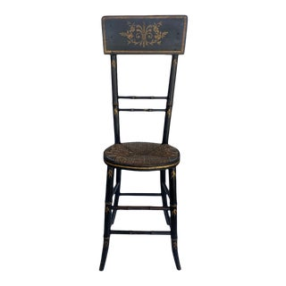 Victorian Painted Childs Posture/Discipline Chair. For Sale