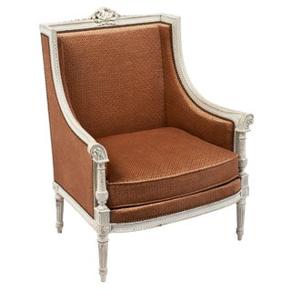 Antique French Louis XVI Style Bergere For Sale