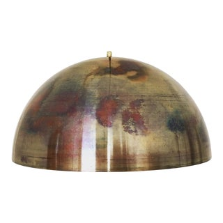 Mid-Century Modern Patinated Copper Dome Pendant Lamp by Beisl For Sale