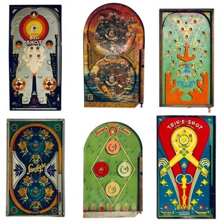 Collection of Six Antique Game Boards, Circa 1920-1940 For Sale