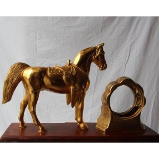 Vintage Western Equestrian Themed Mantel Figurine/Frame Preview