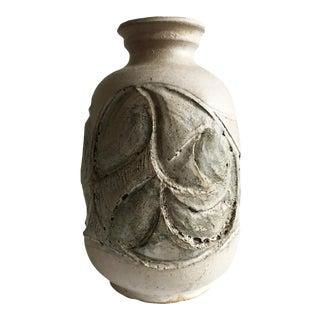 1950s Vintage Modernist Brutalist Mid Century Ceramic Stoneware Vase For Sale