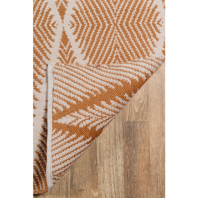 """2010s Erin Gates by Momeni River Beacon Orange Indoor/Outdoor Hand Woven Area Rug - 3'6"""" X 5'6"""" For Sale - Image 5 of 7"""