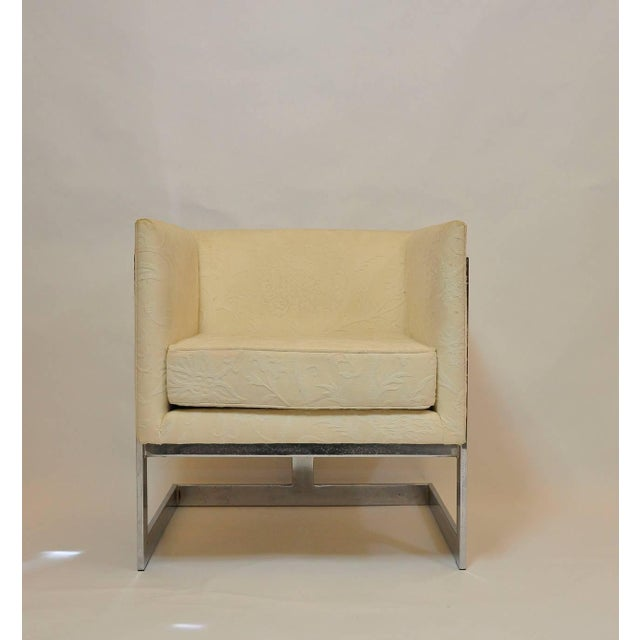 Mid-Century Modern Pair of Milo Baughman Petit Cube Chairs For Sale - Image 3 of 6
