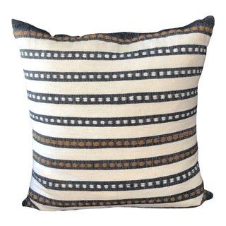 Bolé Road Handwoven Black & White Striped Pillows - A Pair