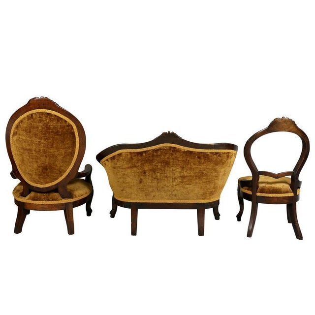 Unusual Suite of American Victorian Walnut Miniature Seating Furniture For Sale - Image 9 of 11