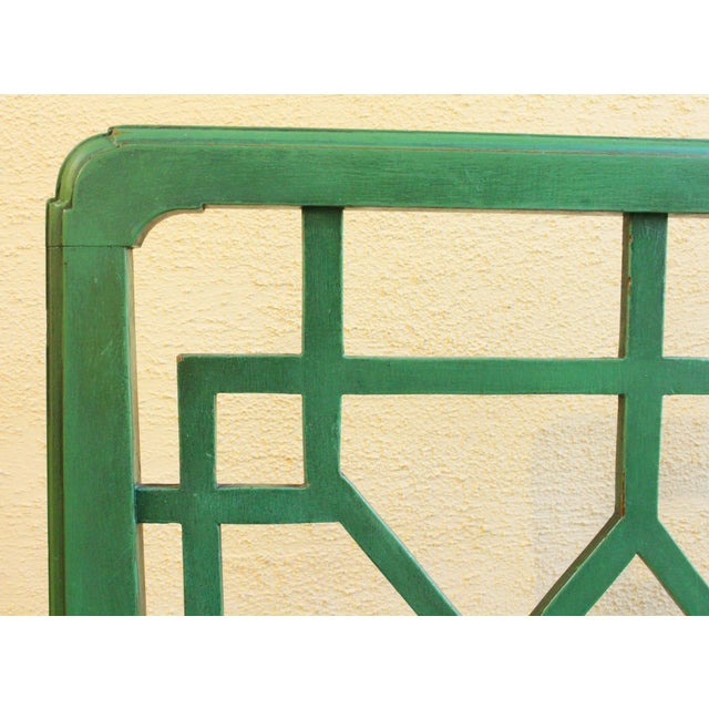 Paint Chinese Chippendale Style Painted Chairs- A Pair For Sale - Image 7 of 8