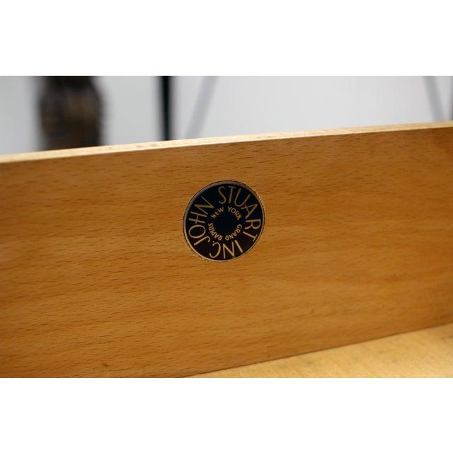 Vintage Danish Modern Arne Vodder for Jon Stuart Teakwood Writing Desk For Sale - Image 11 of 12