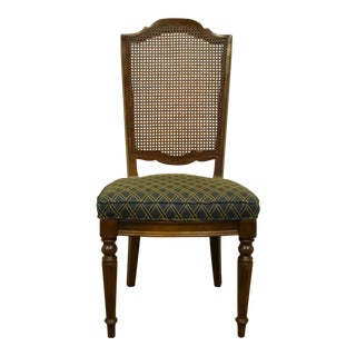 Ethan Allen Classic Manor Solid Maple Cane Back Side Chair For Sale