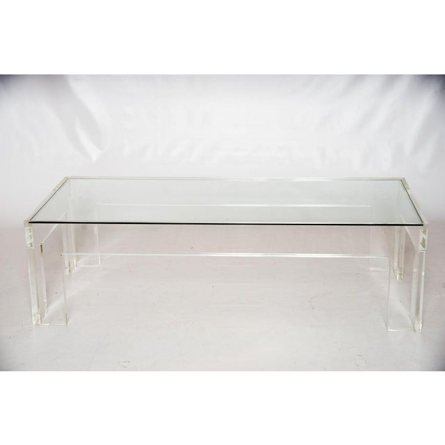 1970s Parson-Style Lucite Coffee Table - Image 2 of 5
