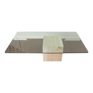 Vintage Artedi Marble and Glass Coffee Table For Sale