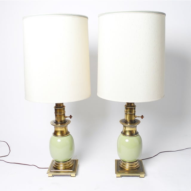 Stiffel Ostrich Egg Table Lamps - Pair - Image 2 of 5