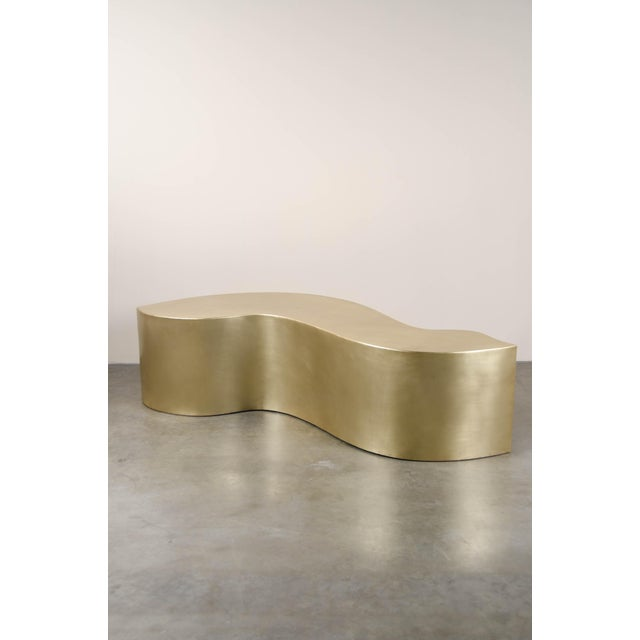 Robert Kuo Dragon Bench - Brass by Robert Kuo, Hand Repousse, Limited Edition For Sale - Image 4 of 6