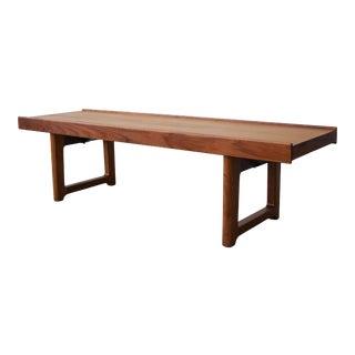 Mid Century Danish Teak Krobo Bench by Torbjørn Afdal for Bruksbo For Sale